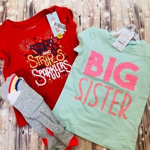 Other - Brand New 3T Girls Tees and Tights Bundle